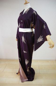 Kimono Dress Japan Japanese costume Vintage Japanese Komon KIMONO KDJM-A0339