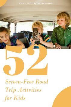 52 fun and car-friendly activities for kids of all ages––that don't require screens while you're on the road! Road Trip Activities, Activities For Kids, Blog Maker, Family Road Trips, Free Ebooks, About Me Blog, Memories, Screens, Car