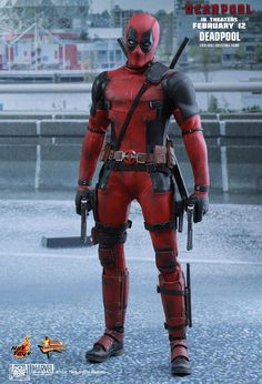"Hot Toys Marvel Deadpool Movie Masterpiece Series (MMS) Sixth Scale Figure ""Wait 'til you get a load of me."" Marvel's most unconventional superhero, Deadpool, will finally hit t .."