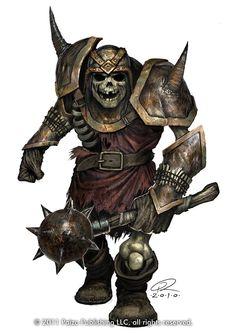Ogre Skeleton Picture  (2d, fantasy, skull, armor, undead, ogre, skeleton, morning star, warrior) ( http://digital-art-gallery.com/picture/big/12839, 2011 )