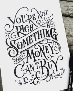 Hand lettering designs and typography examples, its impressive illustration artwork. Hope you like them. Lettering is creating illustrations with letters, numbers Calligraphy Quotes, Calligraphy Letters, Typography Quotes, Typography Inspiration, Typography Letters, Caligraphy, Calligraphy Handwriting, Penmanship, Brush Lettering