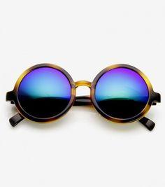 Achetez lunettes de soleil rondes effet miroir sur lavantgardiste.com