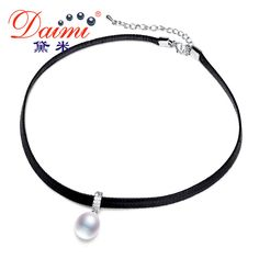 Check lastest price DAIMI White Pearl Choker Pendant 8-9mm Tear Drop Freshwater Pearl Necklace 13-14mm Coin Pearl Trendy Necklace Lady Best Gift  just only $19.78 with free shipping worldwide  #finejewelry Plese click on picture to see our special price for you