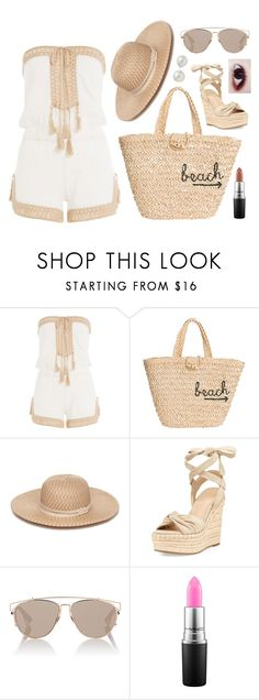 """""""Grecian Beach"""" by deadlynight ❤ liked on Polyvore featuring Anna Kosturova, Hat Attack, Collection XIIX, Kendall + Kylie, Christian Dior and AK Anne Klein"""