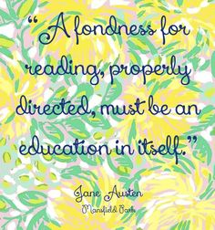 """""""A fondness for reading, properly directed, must be an education in itself."""" Mansfield Park #janeausten #fanart"""