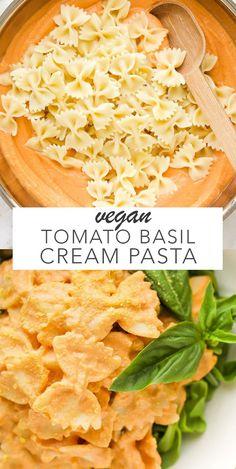 Vegan Tomato Basil Cream Pasta #vegan