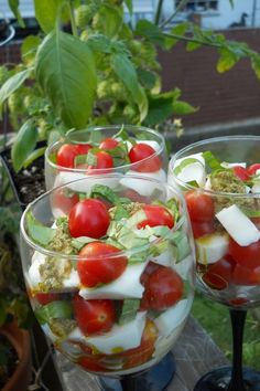 Layered salad in cup
