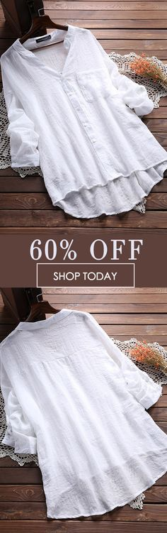 I love those fashionable and beautiful blouses from banggood.com. Find the most suitable and comfortable outfit at incredibly low prices here. #women #blouse #outfits