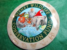 DISNEY WILDLIFE CONSERVATION FUND ENDANGERED ANIMALS LAPEL BUTTON PIN - Lot#111