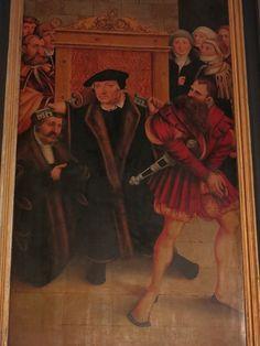 Confession on Wittenberg altarpiece by Cranach.
