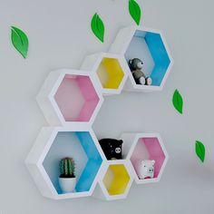 ikea hexagon shelves - Google Search