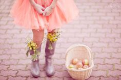 Flowers in the boots? Maybe not practical, but such a pretty picture. By East Dreamers Photography.