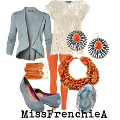 I don't like orange… but this outfit is like seriously on my list to own...