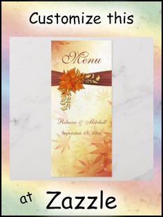 Shop Red gold Autumn leaves Wedding Menu Rack Card created by IrinaFraser. Personalize it with photos & text or purchase as is! Wedding Menu, Red Wedding, Wedding Engagement, Fall Wedding, Rack Card, Fall Birthday, Red Gold, Autumn Leaves, Party Favors