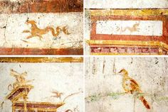 The Roman artist Fabullus conceived of even the smallest details of the Domus Aurea's decoration, including paintings of mythical creatures, fanciful architecture, and naturalistic fauna.