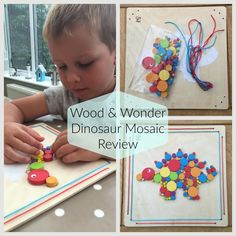 Review Post: Dinosaur Mosaic from Wood & Wonder