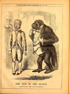 Cartoon in Punch 40 (1861).
