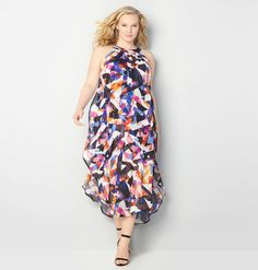Maxi-mize your spring wardrobe with our Abstract Chiffon Overlay Maxi Dress available in plus sizes 14-32 at avenue.com. Avenue Store