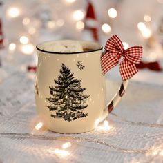 2048x2048 Wallpaper cup, garland, new year, bow
