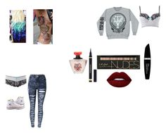 """""""Untitled #1"""" by violetfuentesbiersack on Polyvore featuring beauty, Converse, Max Factor, Charlotte Russe and Lime Crime"""