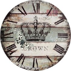 Mi reloj Clock Craft, Diy Clock, Clock Decor, Art Deco Posters, Vintage Posters, Clock Face Printable, Clock Template, Farmhouse Clocks, Retro Clock