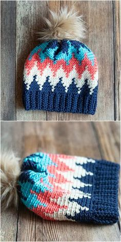 Chevron Hat Free Crochet Pattern