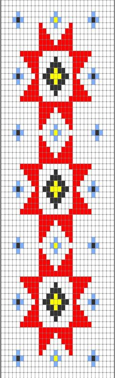 Cherokee Star Beadwork Strip