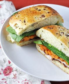 The BEST leftover Thanksgiving Turkey Sandwich around! by Jennifer Leal @Jennifer Leal