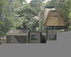 Flight Farm. Exterior detail image. Contemporary Architecture. Hawkes. NPPF 55.