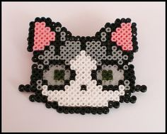 Gato hama beads by TodoHama, via Flickr
