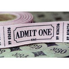 Vintage Style 'Admit One' Fun Fair Ribbon - Craft / Wedding Invites Craft Wedding, Wedding Favours, Wedding Themes, Our Wedding, Wedding Invitations, Dream Wedding, Invites, Wedding Fayre, Autumn Wedding