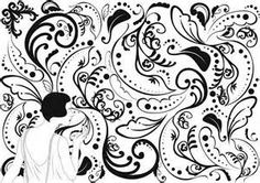 Art Deco Patterns Black and White