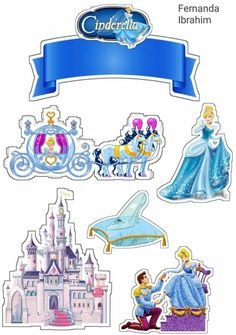 Cinderella Pictures, Disney Princess Pictures, Disney Princess Party, Princess Theme, Cinderella Birthday, Cinderella Disney, Cinderella Cakes, Cinderella Invitations, Princess Cupcake Toppers