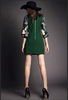 2016 новый стиль осенняя мода женская одежда печати фонарь рукав шею элегантное платье бисером шить повседневные платья купить на AliExpress