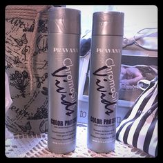 Pravana Chromasilk Vivids Color Pro Shampoo/Cond Used each 1x, and my hair is like an inch long, so not much is gone. 10.1 oz each, retail is $42-$50. Love Pravana, but I got rid of my vivids just after I bought these! Fantastic for colored hair - any color, not just Pravana!! Pravana Makeup Brushes & Tools
