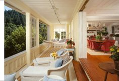 What a great porch!!    Oakville, California residence by Backen, Gillam & Kroeger Architects.