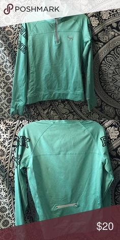 Victoria's Secret pink ultimate hoodie Teal Victoria's Secret pink ultimate jacket half zip PINK Victoria's Secret Tops Sweatshirts & Hoodies