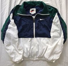 kept in super. kept in super clean 9 10 condition (just a little wrinkled currently lol) & the whites are still bright as hell nike sportswear outerwear streetwear un Nike Outfits, Teen Fashion Outfits, Retro Outfits, Trendy Outfits, Vintage Outfits, Vintage 90s Clothing, Boys Fall Fashion, Nike Dresses, Sporty Outfits