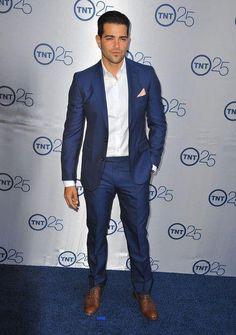 Navy Blue Slim Fit Tuxedo For Groom Men Wedding Wear Suit For ...