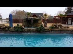 This absolutely stunning rock waterfall grotto is perfect for pools of all sizes. Universal Rocks makes it easy to transform your pool into a one-of-a-kind grotto. Backyard Pool Landscaping, Backyard Pool Designs, Small Backyard Pools, Swimming Pools Backyard, Outdoor Pool, Landscaping Ideas, Luxury Swimming Pools, Luxury Pools, Dream Pools