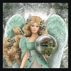 Thomas Kinkade Angel Figurines | figurines angel ornaments handcrafted angels from the bradford ...
