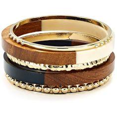Aqua Deborah Tribal Bangles, Set of 5 ($38) ❤ liked on Polyvore featuring jewelry, bracelets, natural, wooden bangle bracelet, bangle jewelry, hinged bracelet, aqua blue jewelry and wooden bangles