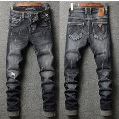 Italian Men Jeans Stretch Biker Jeans Web: www.menpant.com/product/italian-men-jeans-stretch-biker-jeans/ Italian Style New Men Jeans Black Color High Quality Casual Pants Slim Fit Brand Streetwear Stretch Biker Jeans Men #MenPant #MenPants #UK #USA