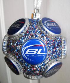 beer ornaments   Bud Light Beer Bottle Cap Christmas Ornament by jennaevesblocks, $5.50 ...