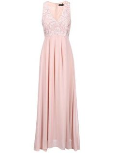 Pudrově růžové maxišaty s vyšívaným topem AX Paris Bridesmaid Dresses, Prom Dresses, Formal Dresses, Wedding Dresses, Perm, Fashion, Knee Length Dresses, Bridesmade Dresses, Dresses For Formal