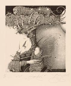 Ex Libris, di Roman Sustov Horror Art, Surreal Art, Ink Art, Fantasy Art, Art Drawings, Illustration Art, Art Prints, Artwork, Etchings