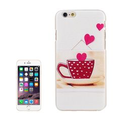 Embossment Style Heart and Cup Pattern Plastic Case for iPhone 6 Plus & 6S Plus