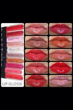 Younique Lucrative lipgloss! Have fabulous lips for every outfit! Www.youniqueproducts.com/courtneywilmes