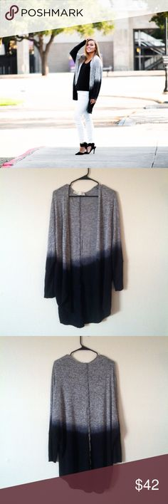 🆕Vintage Havana Gray Ombre Wash Cardigan I am selling the perfect cardigan. Size medium fits true to size. 77% rayon 19% polyester 4% spandex 38 in from shoulder to back hem. In great condition .Reasonable offers accepted Vintage Havana Sweaters Cardigans