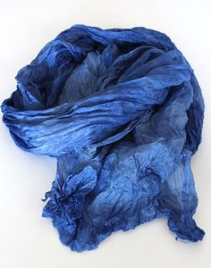 blue  silk scarf... beautiful